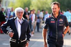 Берни Экклстоун и Кристиан Хорнер, руководитель команды Red Bull Racing