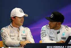 Nico Rosberg, Mercedes AMG F1 Team and Lewis Hamilton, Mercedes AMG F1 Team