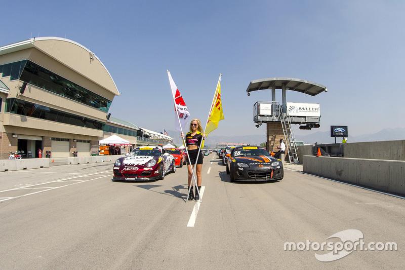 Pre-race starting grid