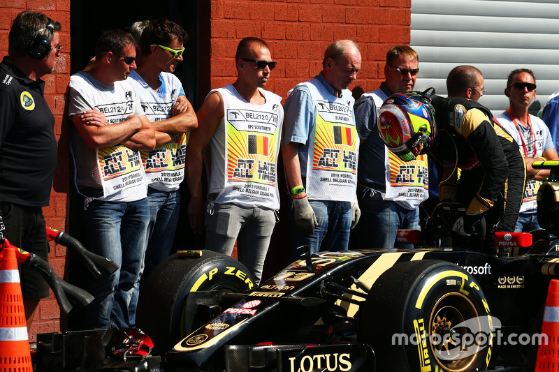 Pastor Maldonado, Lotus F1 E23 in parc ferme
