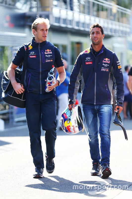 Daniel Ricciardo, Red Bull Racing Stuart Smith, Red Bull Racing Physiotherapeut