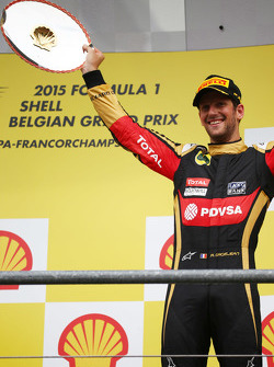 3rd place Romain Grosjean, Lotus F1 E24