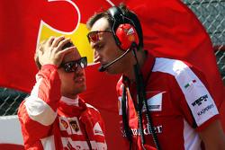 Sebastian Vettel, Ferrari en la parrilla