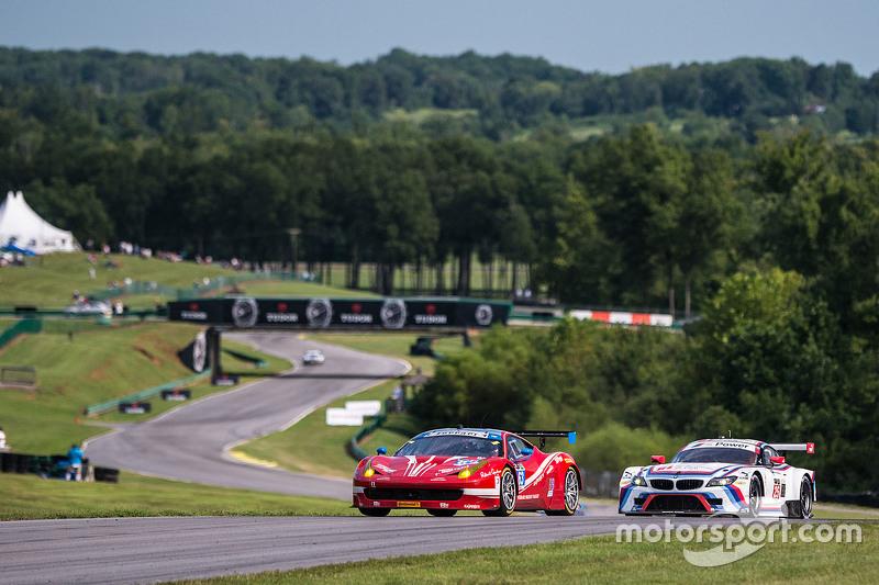 #63 Scuderia Corsa Ferrari 458 Italia: Білл Свідлер, Таунсенд Белл та #25 BMW Team RLL BMW Z4 GTE: B