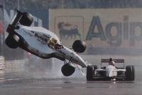 Christian Fittipaldi y Pierluigi Martini, Minardi chocan en la meta