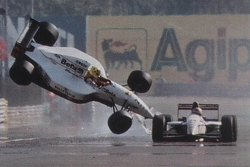 Christian Fittipaldi, Minardi and Pierluigi Martini, Minardi collide at the finish