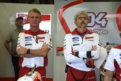 Paolo Ciabatti and Luigi Dall'Igna, Ducati Team