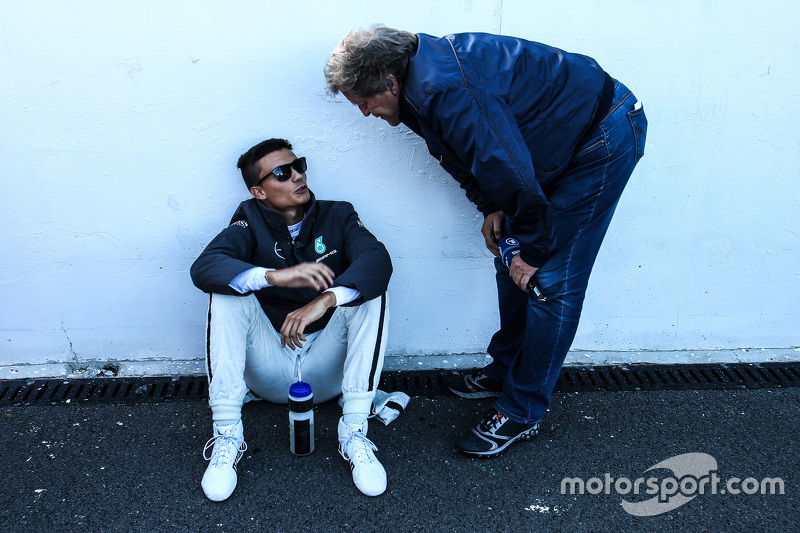 Pascal Wehrlein, HWA AG Mercedes-AMG C63 DTM with Norbert Haug,