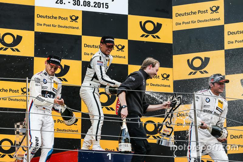 Podium, 2nd Marco Wittmann, BMW Team RMG BMW M4 DTM, 1st Pascal Wehrlein, HWA AG Mercedes-AMG C63 DT