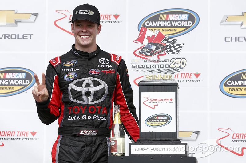 Race winner Erik Jones, Kyle Busch Motorsports Toyota