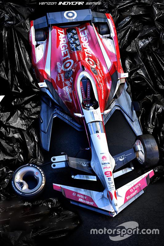 Possível design para os carros da Indy em 2035, de Wekoworks em www.wekoworks.com