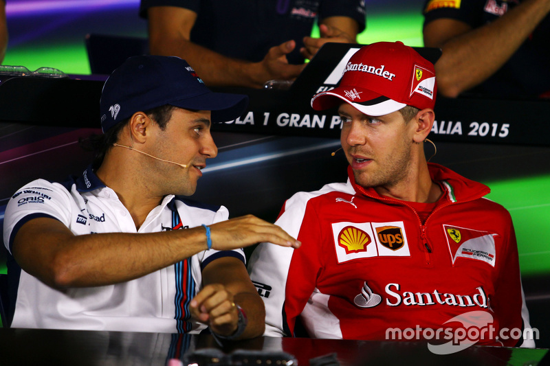 Felipe Massa, Williams, und Sebastian Vettel, Ferrari