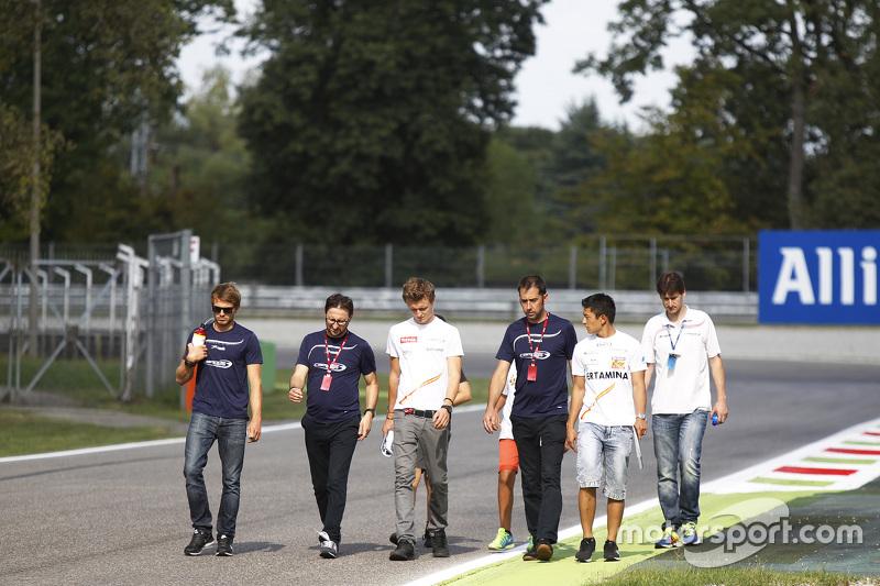 Arthur Pic, Campos Racing, und Rio Haryanto, Campos Racing