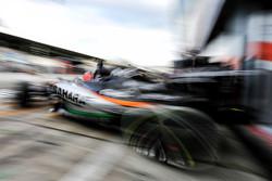 Nico Hülkenberg, Sahara Force India F1 VJM08 leaves the pits