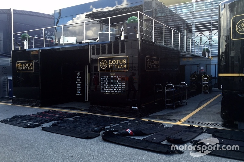 Lotus F1 Team tyre blankets