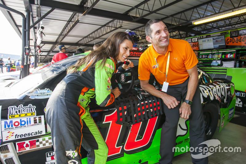 Danica Patrick, Stewart-Haas Racing, Chevrolet, und Max Papis