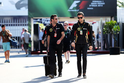 Matthew Carter, Lotus F1 Team CEO with Jolyon Palmer, Lotus F1 Team Test and Reserve Driver