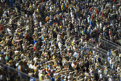 Fans pack the stands at Darlington