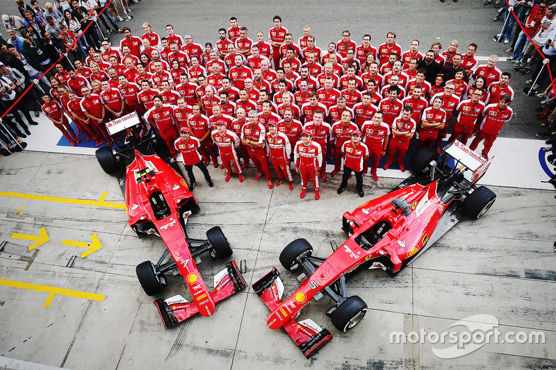 Scuderia Ferrari team photoshoot