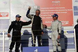 Podio Gara 1 CN2: Filippo Vita, Progetto Corsa, Walter Margelli, Nannini Racing, Marco Jacoboni, Progetto Corsa