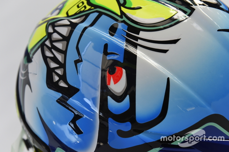 Special helmet design for Valentino Rossi, Yamaha Factory Racing at ...