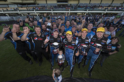 Prodrive Racing Australia Ford celebrates with Mark Winterbottom, Steve Owen, Chaz Mostert and Cameron Waters