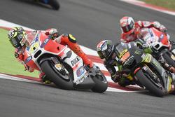 Andrea Iannone, Ducati Team; Bradley Smith, Tech 3 Yamaha; Andrea Dovizioso, Ducati Team