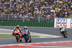 Jorge Lorenzo, Yamaha Factory Racing y Marc Márquez, Repsol Honda Team y Valentino Rossi, Yamaha Factory Racing