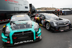 #33 Always Evolving Racing Nissan GT-R-GT3 and #3 Cadillac Racing Cadillac ATS-VR GT4