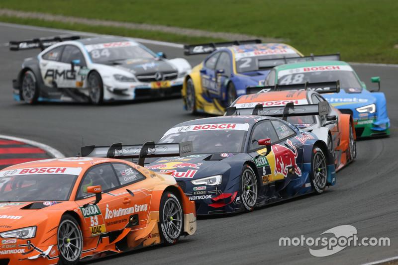 Jamie Green, Audi Sport Team Rosberg, Audi RS 5 DTM, und Mattias Ekström, Audi Sport Team Abt Sportsline, Audi A5 DTM