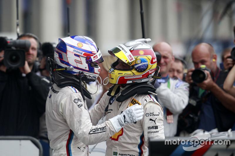 Tom Blomqvist, BMW Team RBM BMW M4 DTM and Augusto Farfus, BMW Team RBM BMW M34 DTM