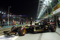 Romain Grosjean, Lotus F1 E23, beim Verlassen der Box