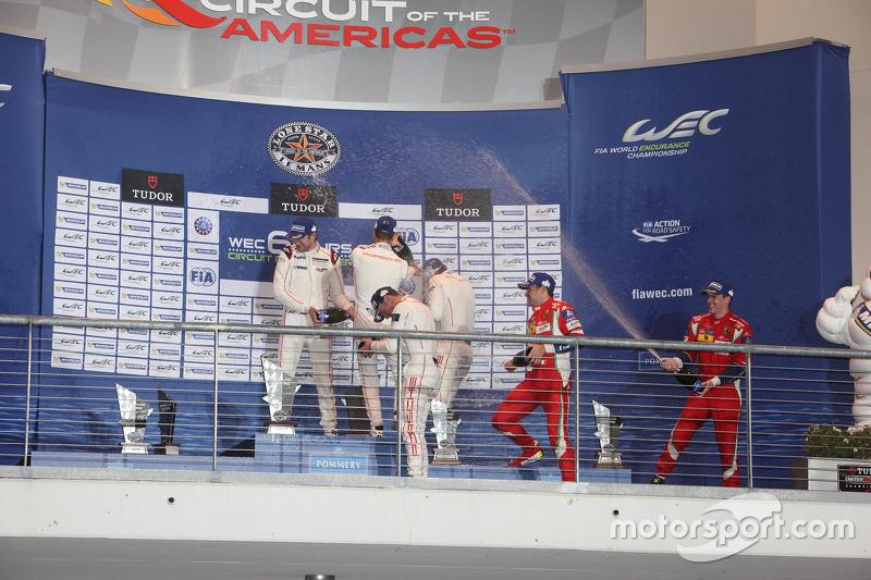 LMGTE Pro, Podium: 1. Richard Lietz, Michael Christensen, Porsche Team; 2. Frédéric Makowiecki, Patr