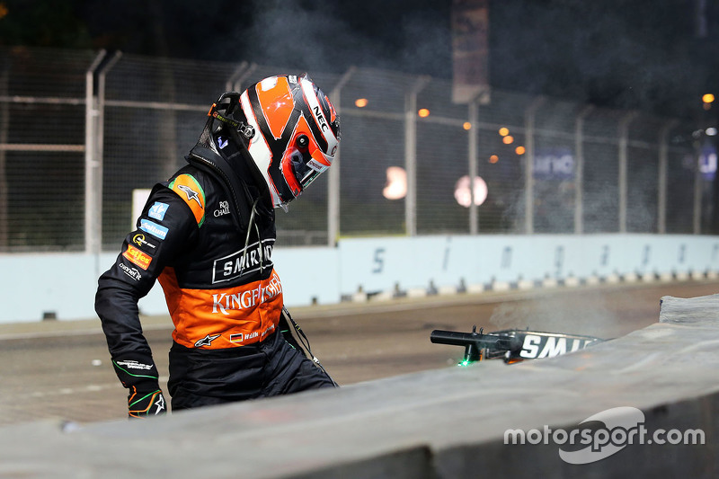 Nico Hulkenberg, Sahara Force India F1 crashed out of the race