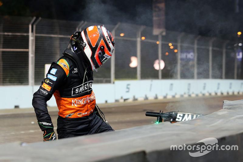 2015 - 13e tour : L'accrochage entre Nico Hülkenberg et Felipe Massa