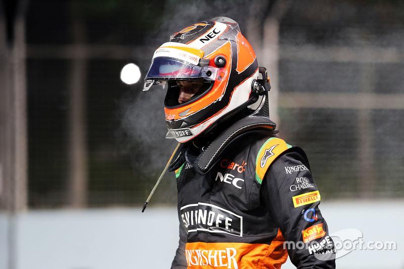 Nico Hülkenberg, Sahara Force India F1, nach Unfall aus dem Rennen