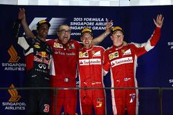 Подиум: победитель - Себастьян Феттель, Ferrari, второе место - Даниэль Риккардо, Red Bull Racing, третье место - Кими Райкконен, Ferrari