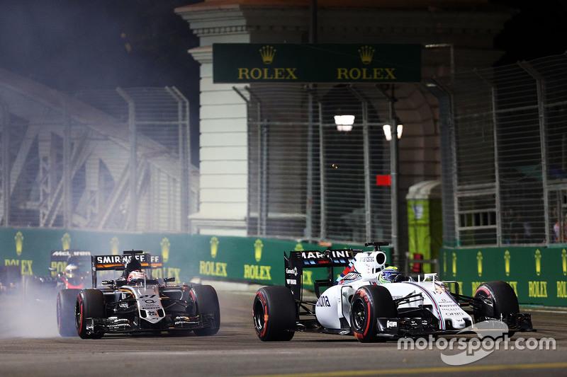 Felipe Massa, Williams FW37, vor Nico Hülkenberg, Sahara Force India F1 VJM08