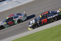 Martin Truex Jr., Furniture Row Racing Chevrolet and Dale Earnhardt Jr., Hendrick Motorsports Chevrolet