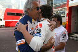 Fernando Alonso, McLaren Mercedes and Flavio Briatore, Renault F1 Team, Team Chief, Managing Director