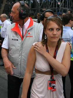Ron Dennis, McLaren, Team Principal, Chairman and his daughter