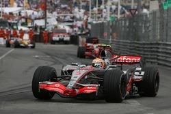 Lewis Hamilton, McLaren Mercedes and Felipe Massa, Scuderia Ferrari, F2007