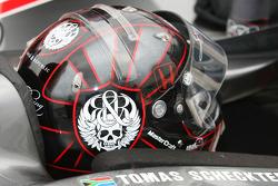 Casque de Tomas Scheckter