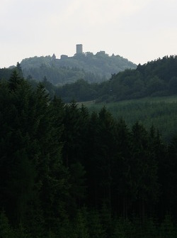 A view of the Nurburg castle