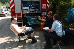 Fire personnel have lunch near Höhe Acht
