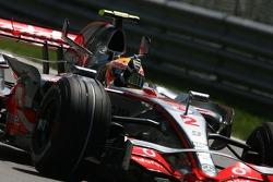 Lewis Hamilton, McLaren Mercedes celebrates his first pole position