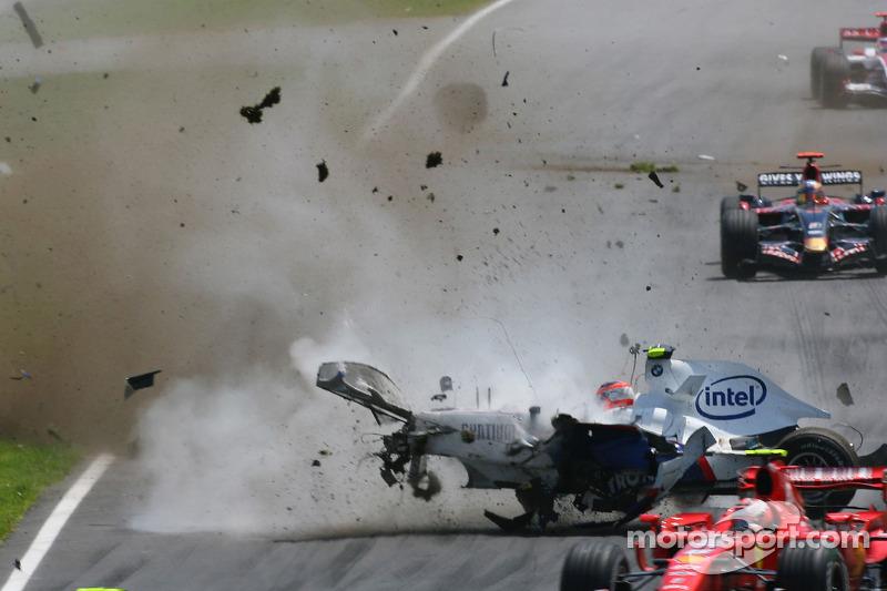 Роберт Кубица, BMW Sauber F1 Team, F1.07, авария