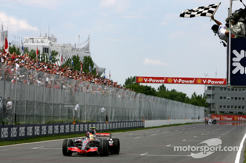Maiden F1 victory in 2007 Canadian Grand Prix