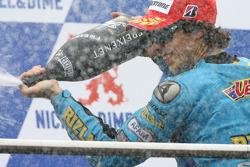 Podium: Champagne for Chris Vermeulen