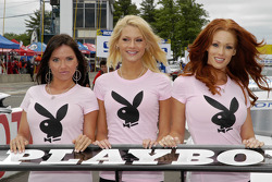 Playboy girls decorate the rear wing